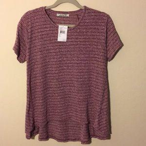 High low striped tshirt